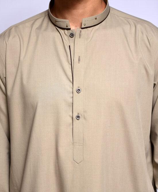 Shoop Light Brown Kameez Shalwar