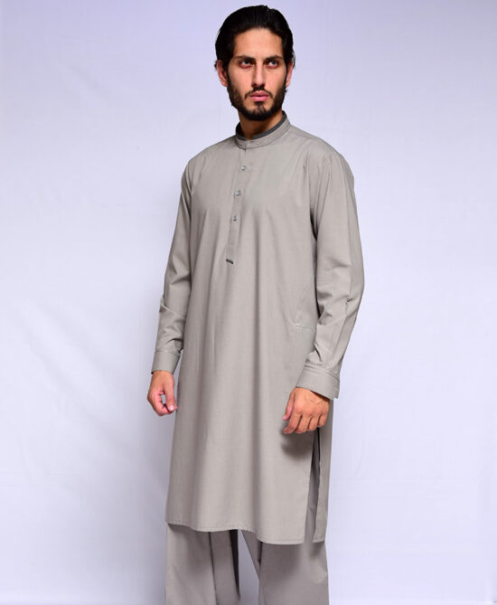 Shoop Stone Grey Kameez Shalwar