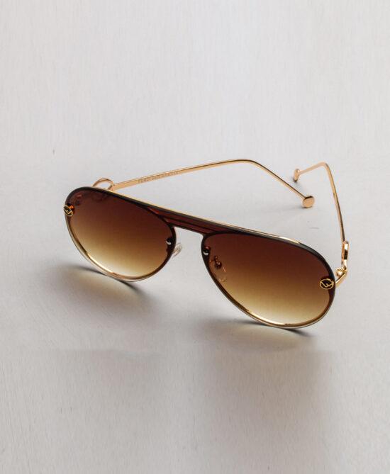 Shoop Fendi Gold Tinted Sunglasses
