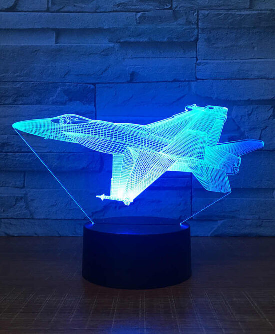 Aircraft Jet Model Airplane 3d Night Light Desk Lamp