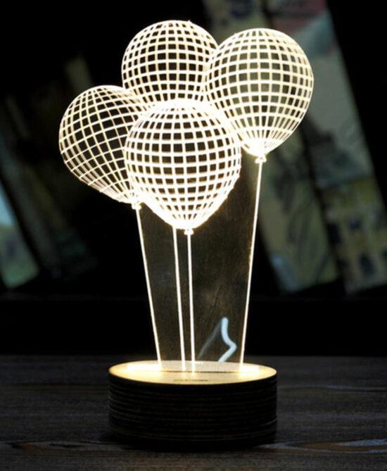 Balloon Shape 3D LED Night Light
