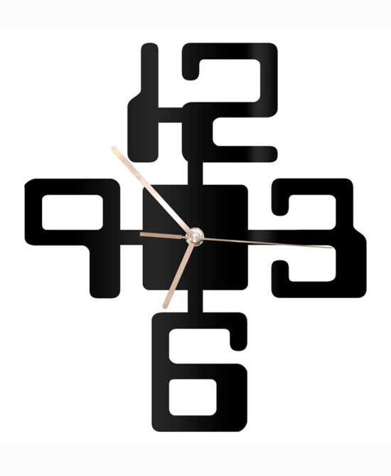 Large Numbers Modern Wall Clock